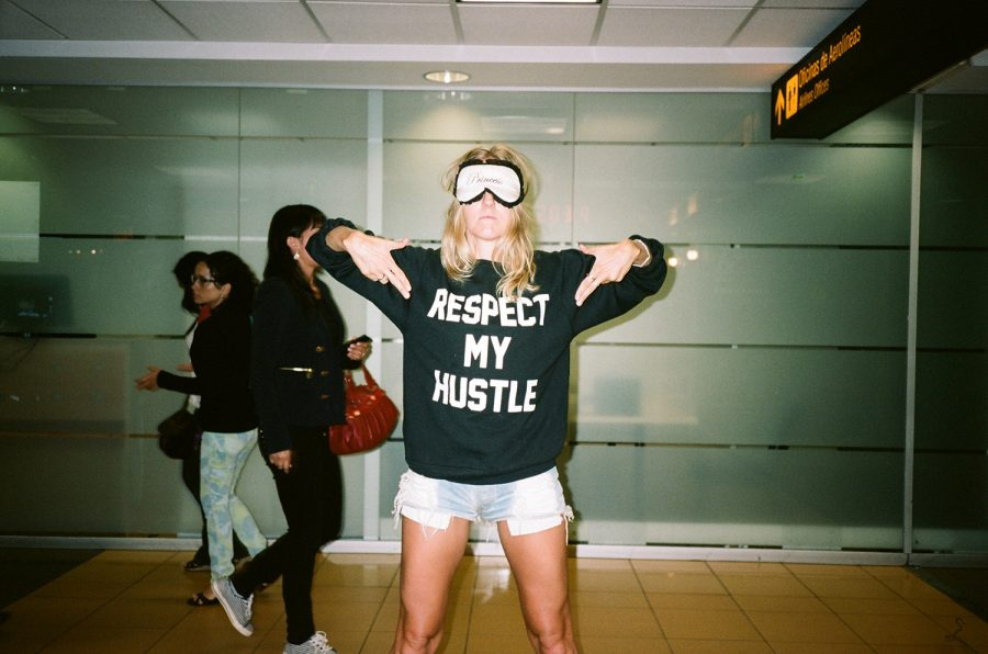travel airport girl respect my hustle shirt work surf