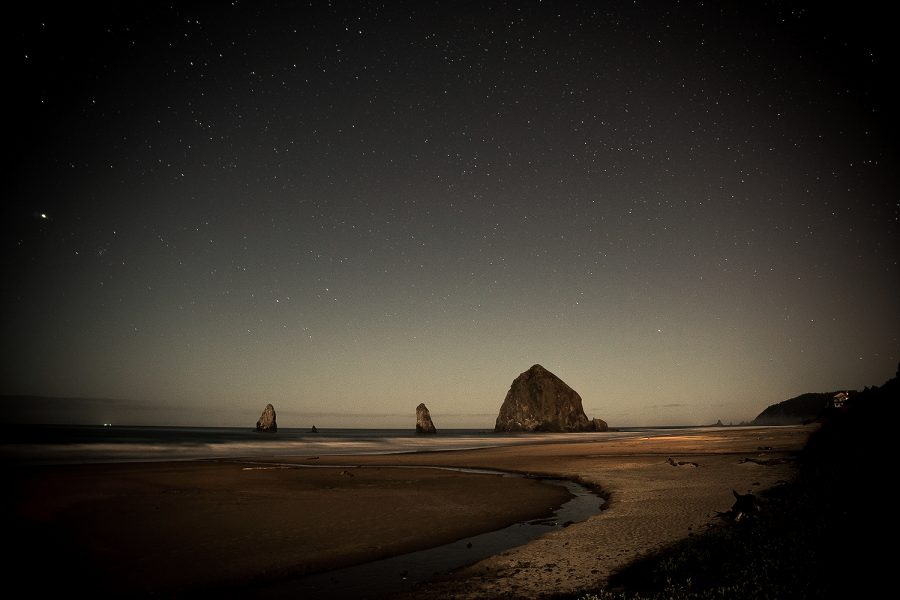 Haystack Night Landscape_1500 long exposure oregon best picture image pacific stars