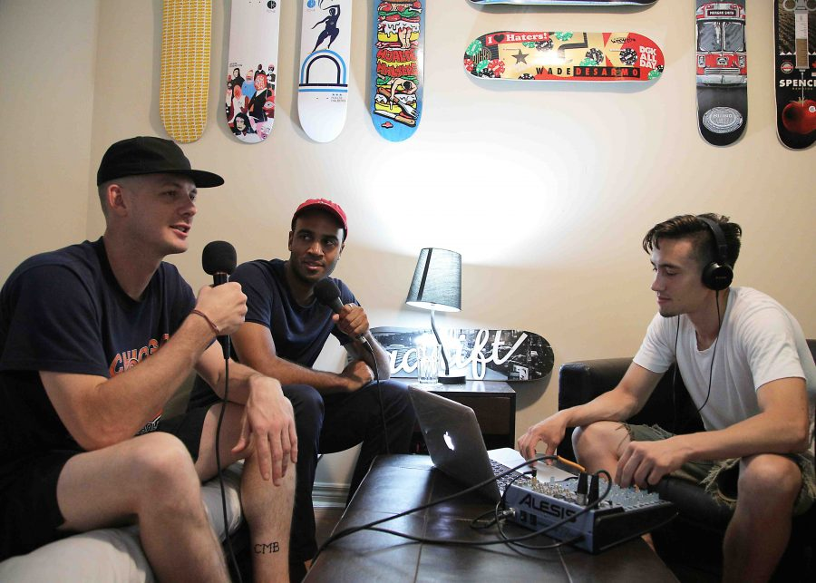 The bunt live skateboard podcast hosts studio e