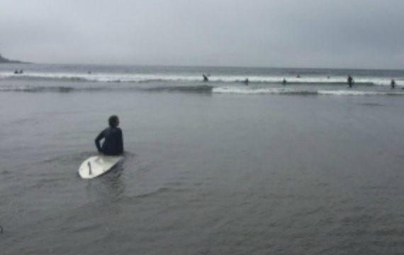 justin trudeau pm sitting on surfboard kook