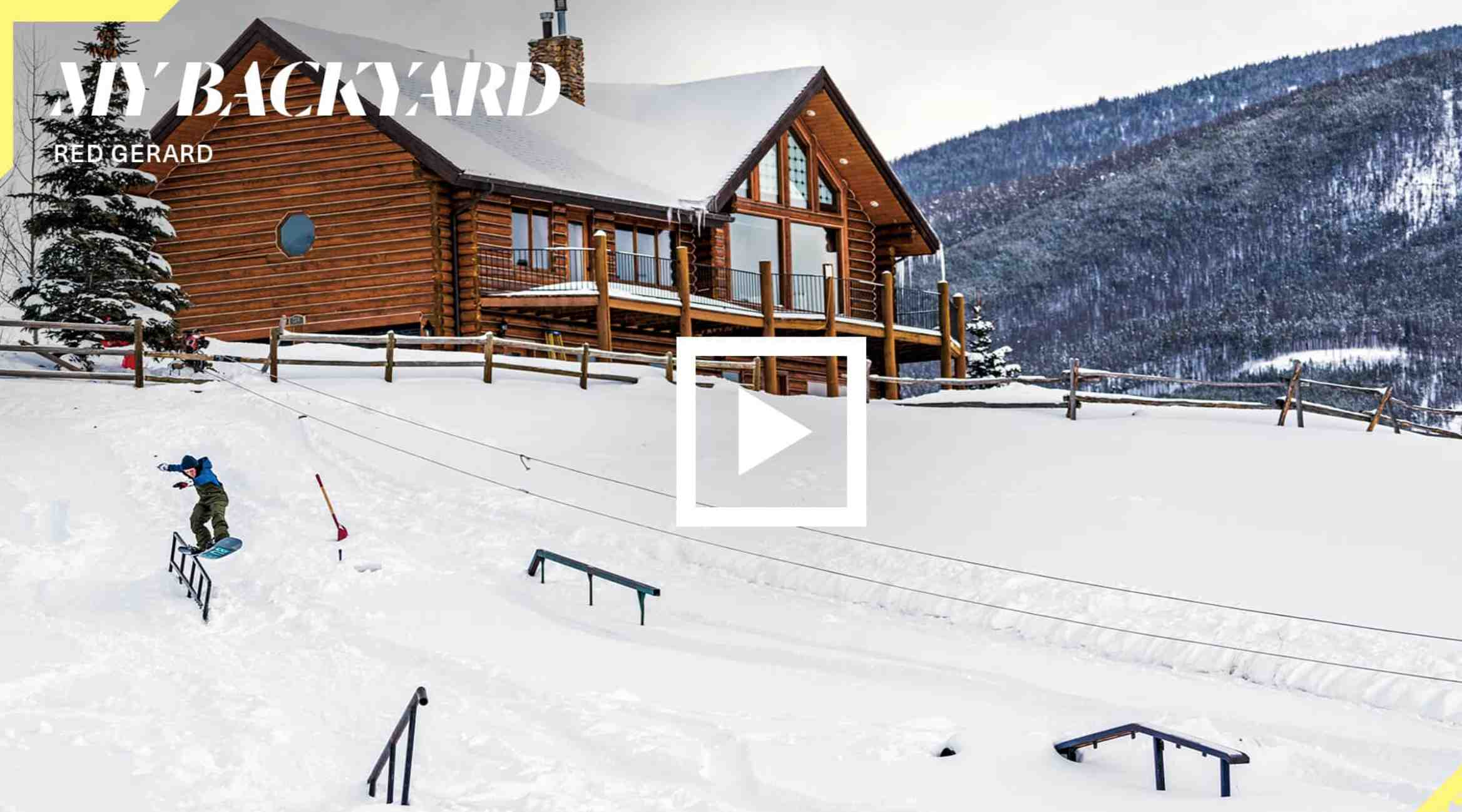The Ultimate Backyard Snowboard Park | This 16 Yr Old Has A Really Fun  Advantage