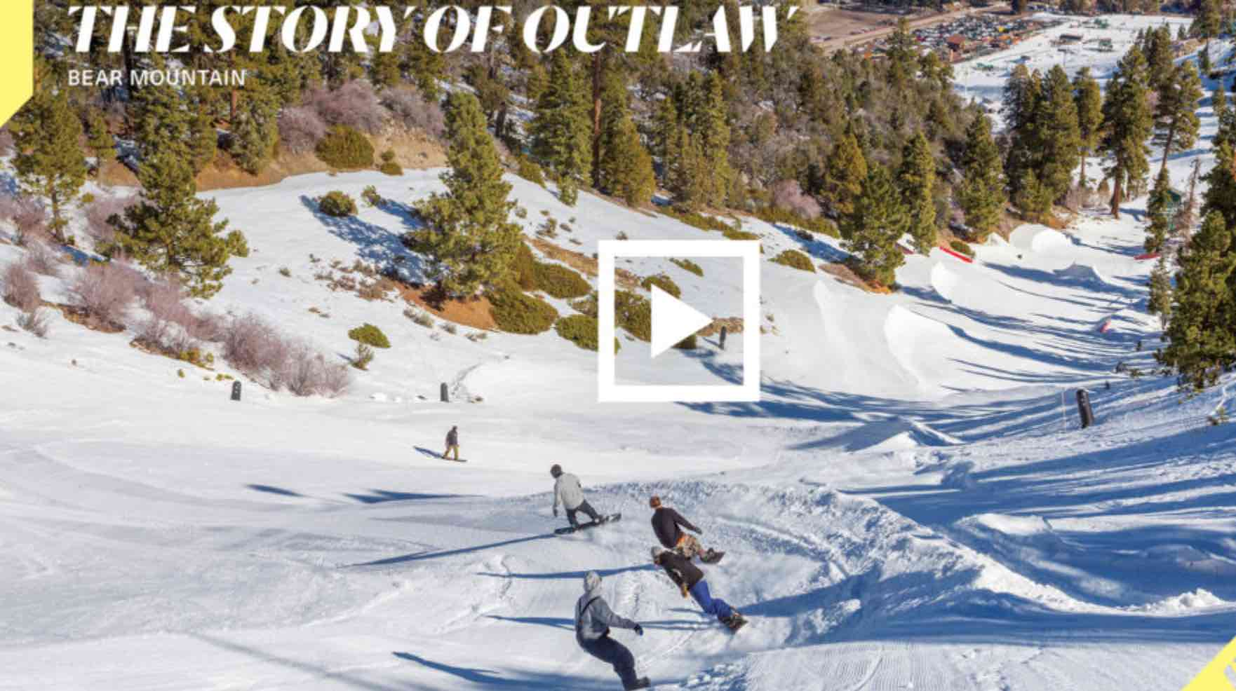 History Of Big Bearu0027s U0027Outlaw Parku0027 | Where Would Snowboarding Be Without  It?