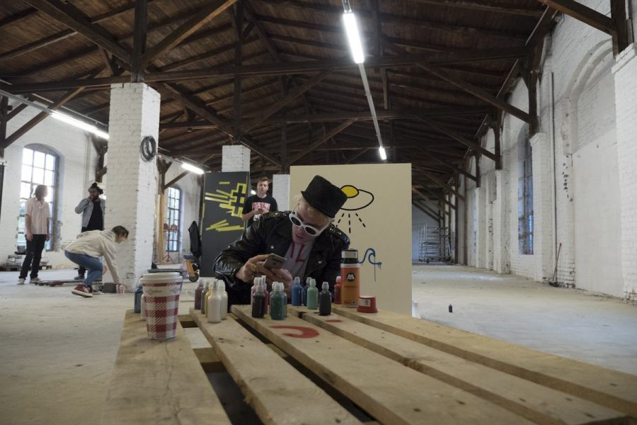 trouble-trevor-andrew-gucci-guccighost-interview-berlin-warehouse-painting