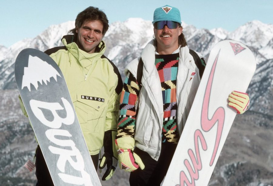 jake-burton-and-tom-sims-two-pioneers-of-snowboarding-purgatory-resort-colorado-1988-photo-bud-fawcett