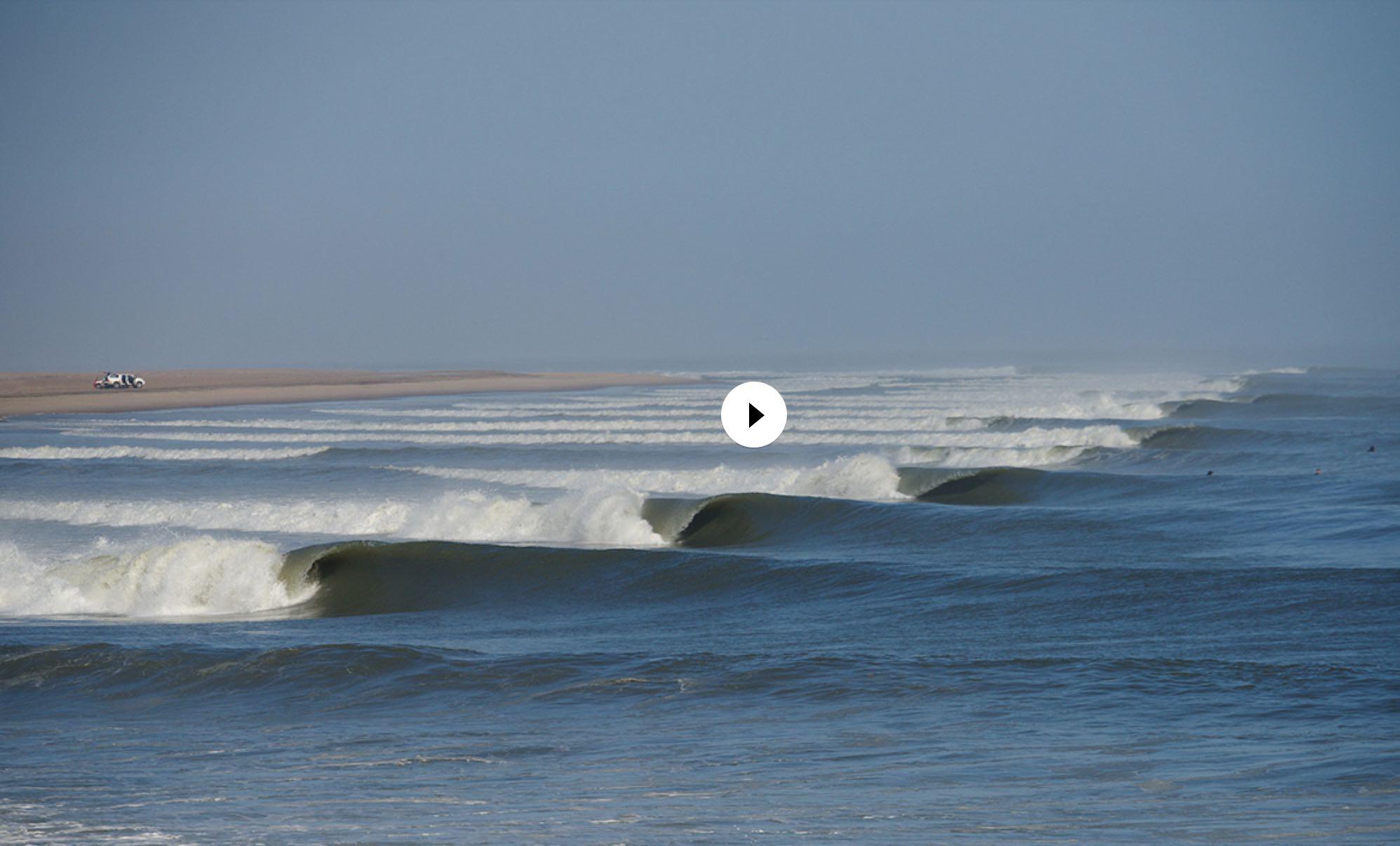 skeleton bay namibia best surf line up shot ever board rap