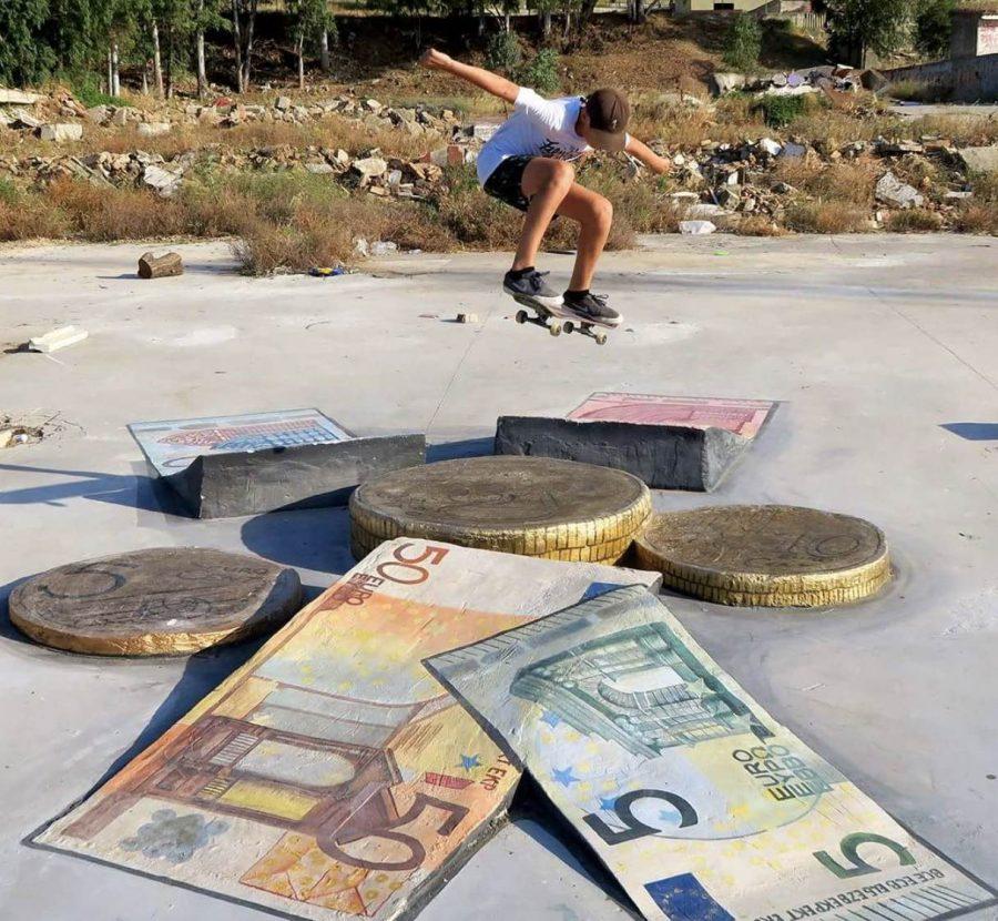 "DIY Skate Spot Doubles As Art Installation | Home to the ""Louis Vuitton ledge"" + the ""Mona Lisa kicker"""