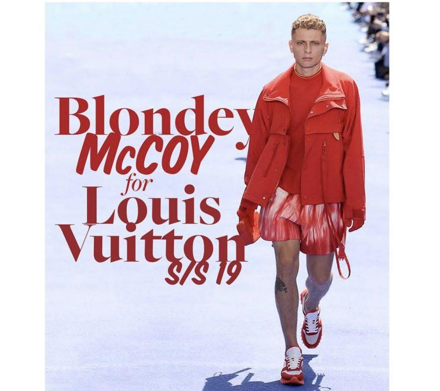 Skateboardings Next Top Model | Blondey McCoy walks for Virgil's 1st Louis Vuitton show